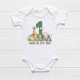 First Birthday Outfit - Custom Baby Shirt or Bodysuit - Wild One Birthday - Safari Jungle Theme - Cake Smash Photo Prop - Baby Boy - Baby Girl