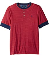 Polo Ralph Lauren Kids - Yarn-Dyed Slub Jersey Short Sleeve Henley Top (Big Kids)