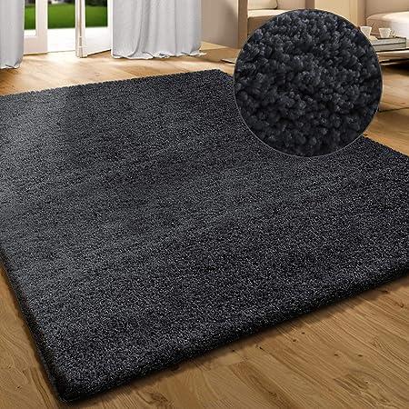 casa pura tapis shaggy tapis de salon moderne tapis poils longs anti derapant pour interieur sejour chambre couloir 8 couleurs gris fonce