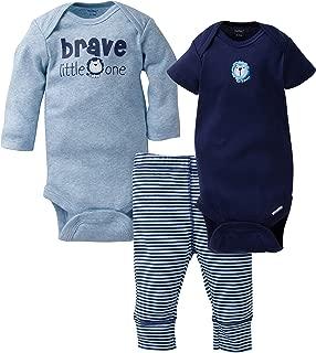 GERBER Baby Boys' 3-Piece Onesies Bodysuits and Pant Set