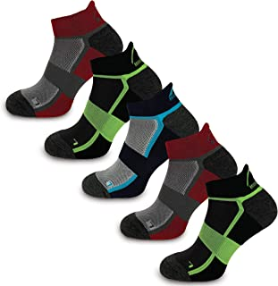 More Mile Bamboo Comfort 5 Pack Running Socks, Cushioned Sports Sock, Breathable & Anti Odour, Lightweight & Long Lasting,...