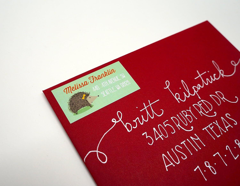 Custom Hedgehog Return Address Labels Shipping Chicago Over item handling ☆ Mall - 40 Free