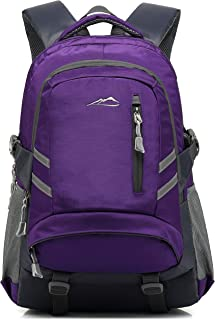 School Backpack BookBag for Student College Travel Hiking Fit Laptop Up to 15.6 Inch (Purple)