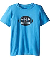 Life is Good Kids - Football Tee (Little Kids/Big Kids)