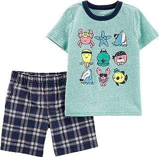 Carter's Baby Boys Sea Creature Plaid Shorts Set