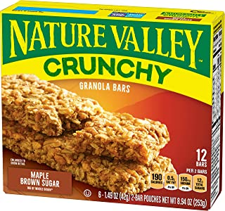 Nature Valley Crunchy Granola Bars, Maple Brown Sugar, 21g (Pack of 12)
