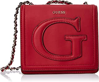 GUESS Womens Mini Crossbody Flap Bag, Lipstick - VG744078