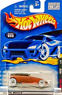 2001 - Mattel - Hot Wheels - Rat Rods Series 3 of 4 - Phaeton (Matte Brown) Flame Graphics / Black Top - Rare White Wall Tires - Collector #059 - New - Out of Production - Limited Edition - Collectible
