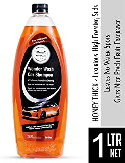 Wavex® Wonder Wash Car Shampoo (1L) pH Neutral Formula For Safe, Spot Free Cleaning - Honey Thick, Luxurious Suds That Alw...