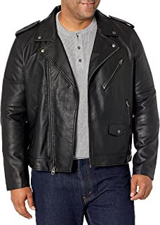 Men's Faux Leather Motorcycle Jacket