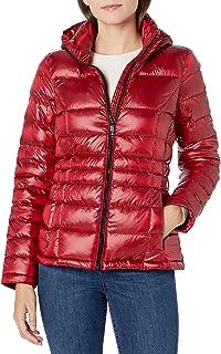 Calvin Klein Womens Short Packable Down Coat
