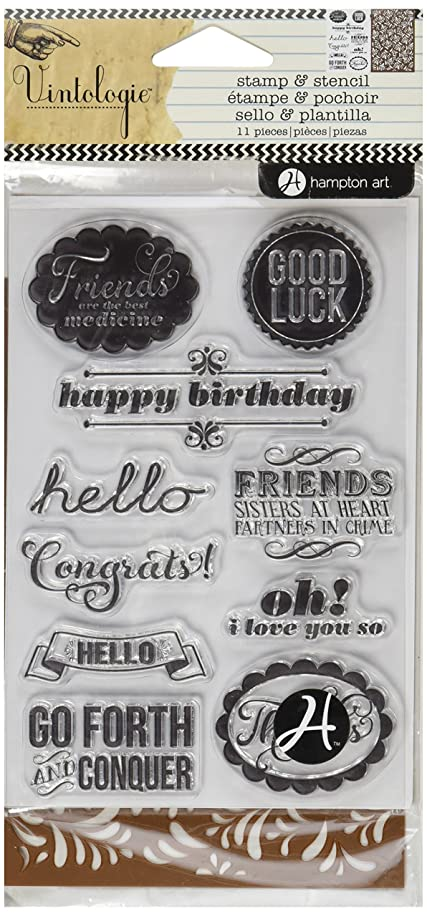 Hampton Art Stamp and Stencil Set, Occasions