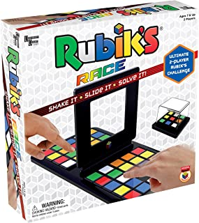 Rubik's Race Game, Head To Head Fast Paced Square Shifting Board Game Based On The Rubiks Cubeboard, for Family, Adults and Kids Ages 7 and Up