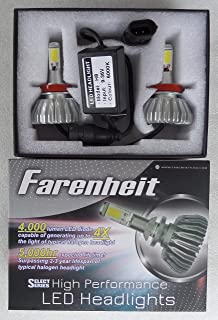 Farenheit SEL-H8 High Performance 4000 Lumen 6000K COB LED OEM Fog Light Bulb Replacements PAIR H8