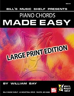 Piano Chords Made Easy: Large Print Edition