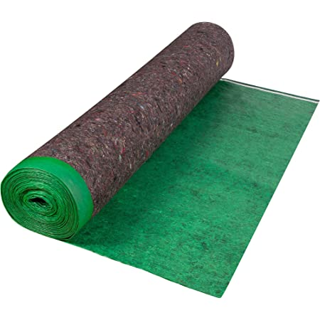 Roberts 70-193A Super Felt 360 sq 60 in. x 72 ft. x 3 mm Cushion Underlayment Roll for Engineered Wood and Laminate Flooring, Green