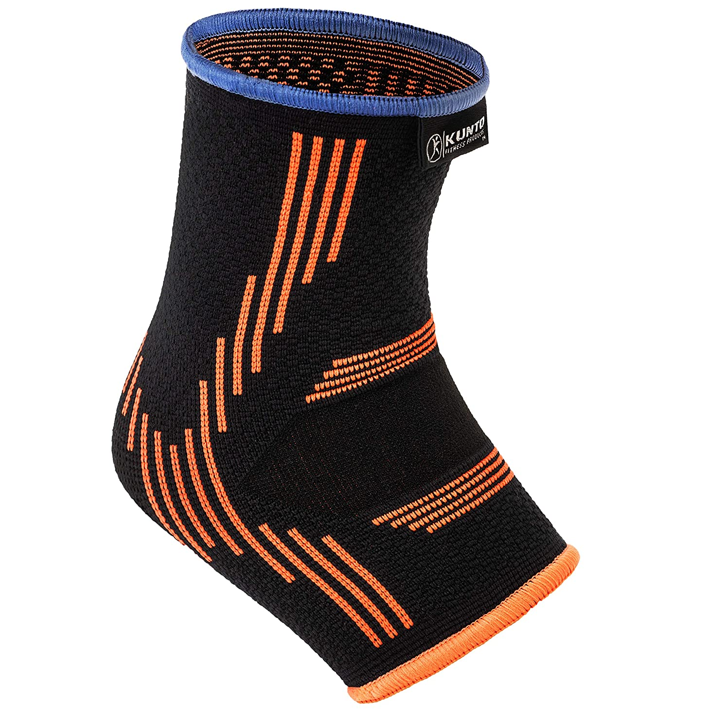 Kunto Fitness Ankle Brace Compression Support Sleeves (1 Pair) for Joint Pain, Achilles Tendon, Plantar Fasciitis, Swelling Relief, Injury Recovery