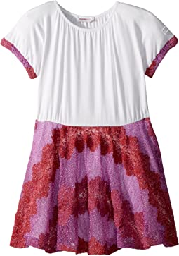 Lace Lame Rigato Dress (Toddler/Little Kids)