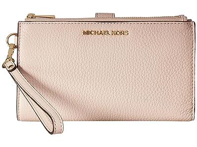 MICHAEL Michael Kors Adele Double-Zip Wristlet 7+ (Soft Pink) Wristlet Handbags