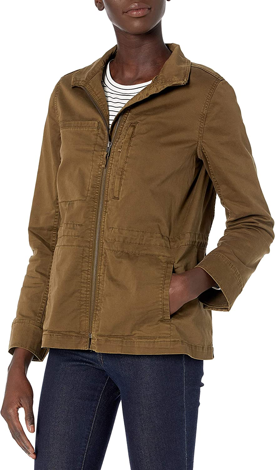 Amazon Brand - Daily Ritual Cargo Las Vegas Mall Our shop most popular Women's Military Jacket