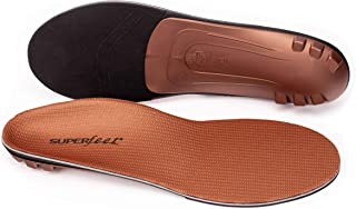 Superfeet COPPER, Memory Foam Comfort plus Support Anti-fatigue Replacement Insoles, Unisex, Copper