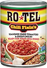 ROTEL Chili Fixin's Seasoned Diced Tomatoes and Green Chilies, 10 Ounce, 12 Pack