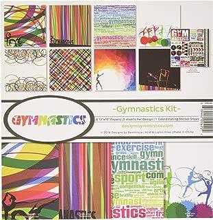 gymnastics scrapbook paper