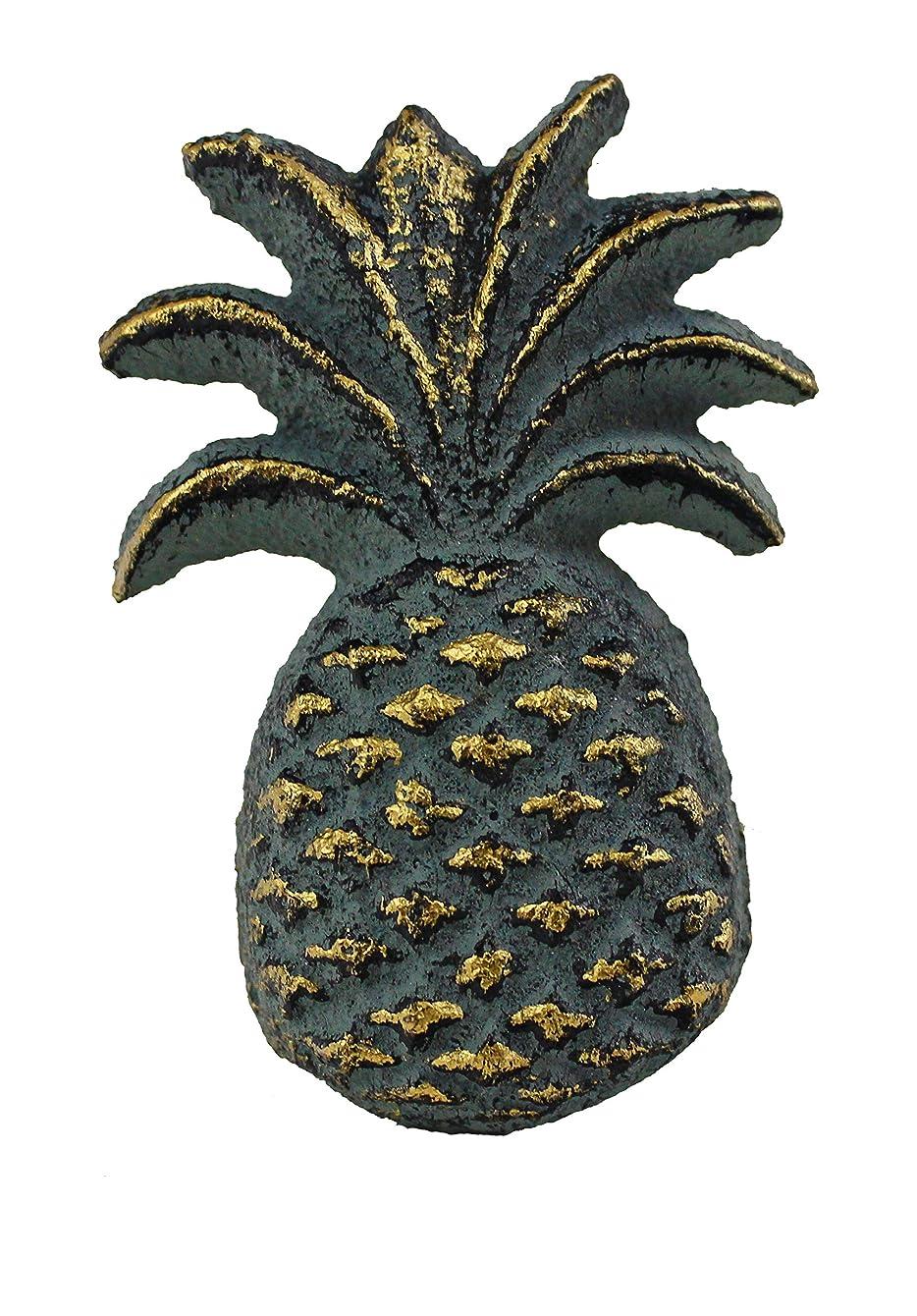 "2""H Green Finish Cast Iron Pineapple Drawer Knob Set of 2"