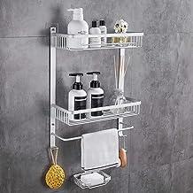 GERUIKE Bathroom Corner Caddy 2 Tiers Aluminum Shower Shelf Self Adhesive Wall Mount No Damage Shower Organizer Rustproof