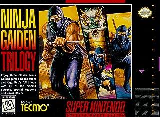Ninja Gaiden Trilogy - (Super Nintendo, SNES) Reproduction Game Cartidge with Replica Miniature Box and Manual