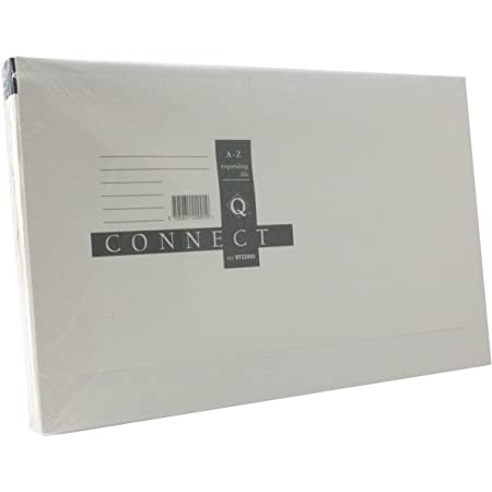 Q Connect 15 Pocket Expanding File A4//Foolscap Paper Document Organiser Manilla