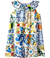 Dolce & Gabbana Kids - Poplin Maioliche Dress (Toddler/Little Kids)