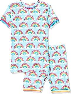 Hatley Organic Cotton Short Sleeve Appliqué Pyjama Sets Ensemble Fille