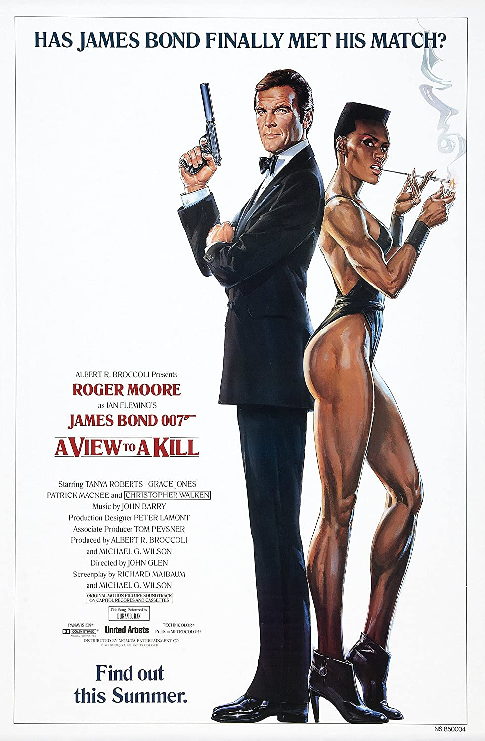 Black Creations A View to a Kill 3 Movie Poster Canvas Picture Art Print Premium Quality A0 A1 A2 A3 A4 (A0 Canvas (30 40))