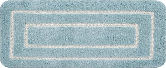 "Apache Mills Foam Bath Mat, 24""x60"", Aqua"