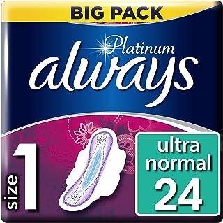 Always Platinum - Toallas sanitarias normales (tamaño 1), 4