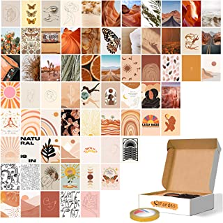 Wall Collage Kit Aesthetic Pictures, Boho Decor, 70 Set 4x6 Inch Posters, With Double-Sided Tape, Cute Room Decor For Teen...