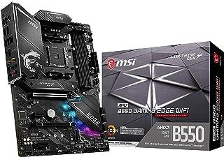 MSI MPG B550 GAMING EDGE WIFI - Placa Base Performance Gaming (AMD AM4 DDR4 M.2 USB 3.2 Gen 2 HDMI ATX), AMD Ryzen 5000 Se...