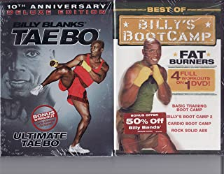 Billy Blanks 2 DVD Pack Includes: Taebo 10th Anniversary Deluxe Edition & Best of Billy's Boot Camp Fat Burners (4 Full Workouts includes Training Boot Camp, Boot Camp 2, Cardio Boot Camp, Rock Solid Abs)