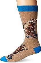 K. Bell Socks Men's Pop Culture Slapstick Fun Novelty Crew Socks