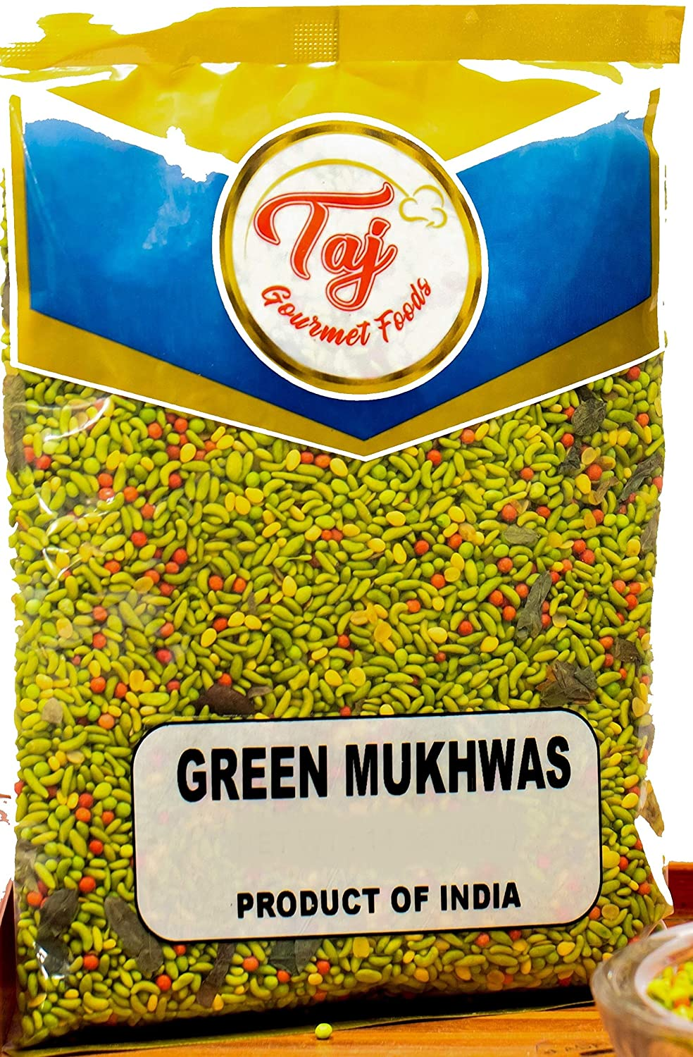 TAJ Premium Indian Green Mukhwas, Candied Fennel Seeds (Saunf), 3.5-Ounce