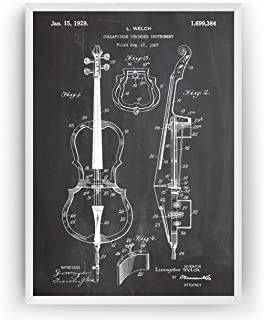 Cello 1929 Patent Print - Poster Giclee Art Wall Decor Vintage Blueprint Gift - Frame Not Included
