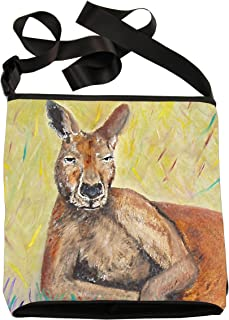 Large Vegan Cross Body Bag - Wearable Art, From My Original Paintings - Support Wildlife Conservation, Read How