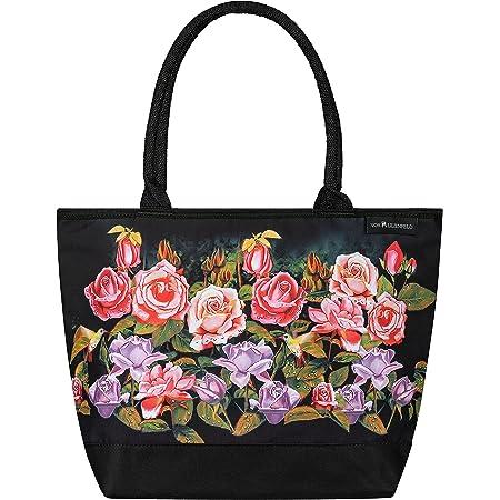 VON LILIENFELD Handtasche Damen Motiv Rosen Blumen Shopper Maße L42 x H30 x T15 cm Strandtasche Henkeltasche Büro