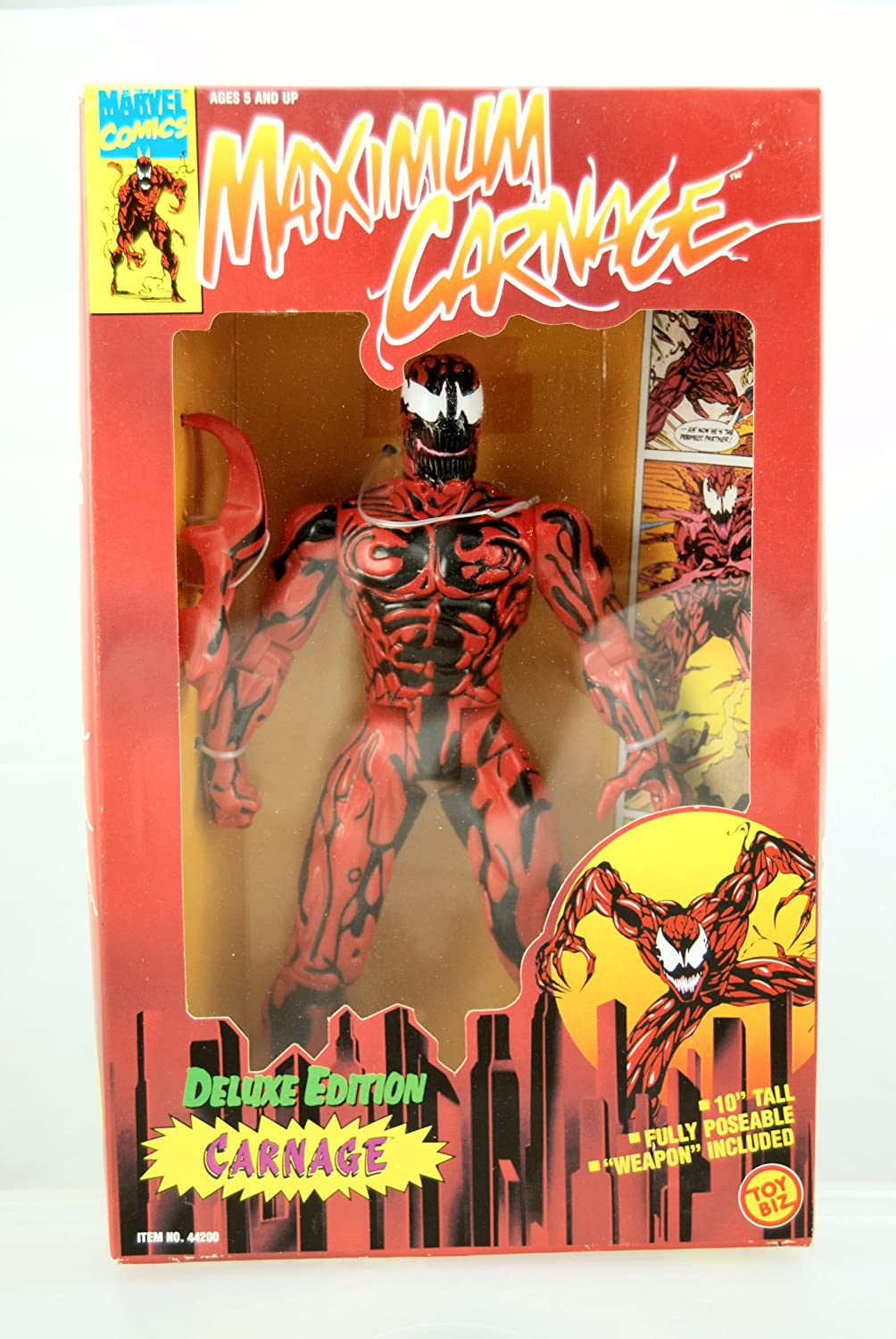 MAXIMUM CARNAGE  CARNAGE  DELUXE 10  FIGURE