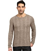 John Varvatos Star U.S.A. - Long Sleeve Crew Neck Sweater w/ Weave Rib Stitch Y1407S3L