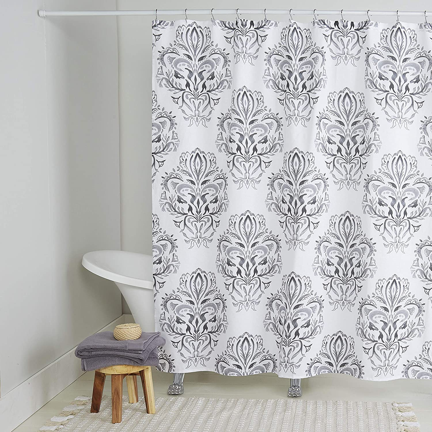 Home Dynamix Nicole Miller Addie Shower Attention brand Easy-to-use Cotton 100% Curtain 72