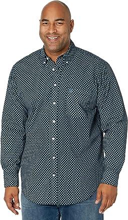 Long Sleeve Print Button-Down Shirt B2D8089