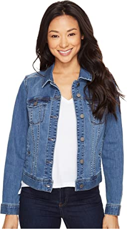 Classic Denim Jacket in Vintage Super Comfort Stretch Denim