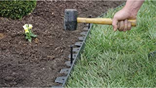 Dimex EasyFlex Easy and Quick No Dig Yard Landscape Border Edging, 40-Foot with 12-Piece Spikes and Connector